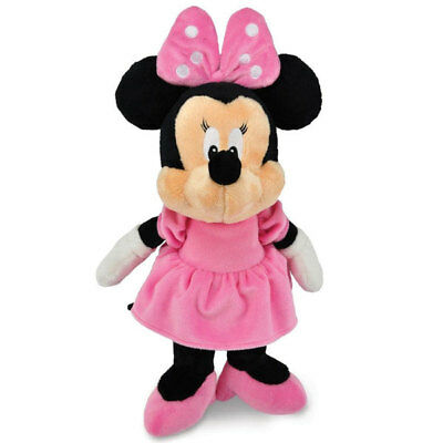 "Minnie Mouse soft plush toy babysafe with rattle DISNEY BABY 13""/33cm NEW"