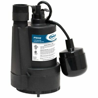 ProFlo PF92330 - 1/3 HP Thermoplastic Top Discharge Sump Pump & Base w/ Tethe...