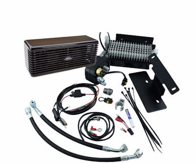Black Ultracool The Reefer Oil Cooler Fan Cooling System 99-08 Harley Touring