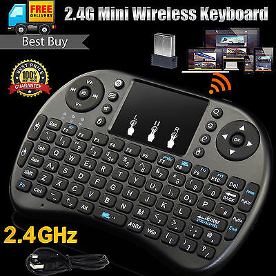 2.4G Mini Wireless Black Keyboard Fly Air Mouse Touchpad for PC Android TV XBOX
