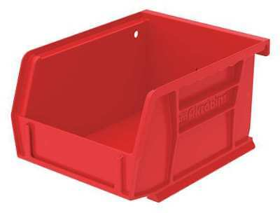 Red Hang and Stack Bin, 10 lb Capacity, 30210RED, Akro-Mils