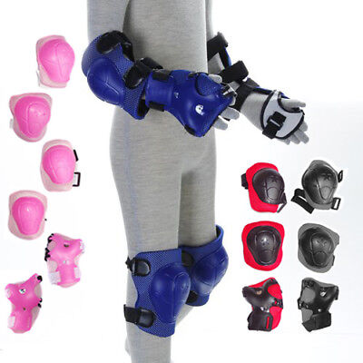New Children Kids Wrist Knee & Elbow Pads Protectors Skating Sports In 4 Colors