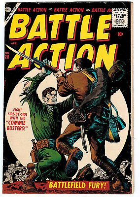Battle Action #28 4.5 Off-White Pages Silver Age
