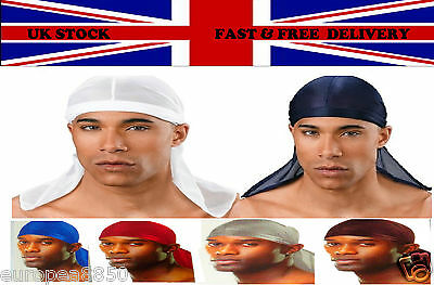 Du-Rag Tie Down Cap Bandana Head Scarf (Choice of Colours)