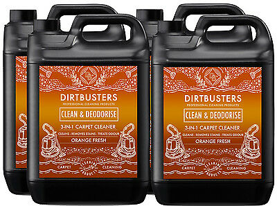 Carpet cleaning solution shampoo odour deodoriser Upholstery Cleaner 20L & vax