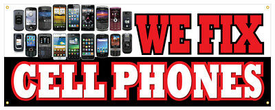 "24/"" WE FIX TABLETS PHONES COMPUTERS DECAL sticker screen repair cellphones"
