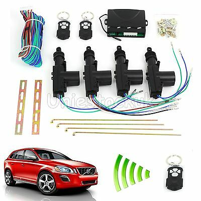Car Remote Central Door 2/4 Control Door Locking Kit Rotate Keyless Entry System
