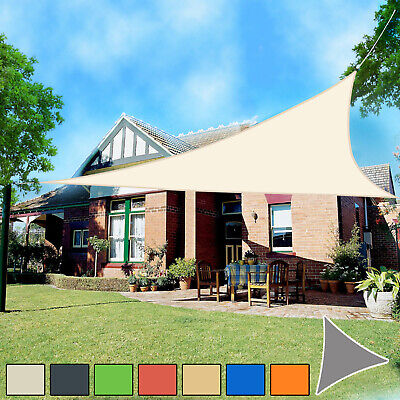 Sun Shade Sail Garden Patio Awning Canopy 98% UV Block Triangle NEW