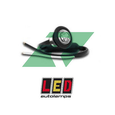 LED Autolamps 12/24v Small 28mm Round White LED Front End Marker Light 181WME