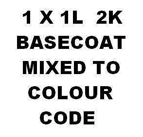 1000ml 1lt Car Body Paint NEAT BASECOAT COLOUR MIXED TO CODE Metallic pearl