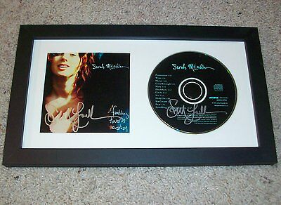 SARAH MCLACHLAN SIGNED FUMBLING TOWARDS ECSTASY FRAMED CD w/EXACT VIDEO PROOF