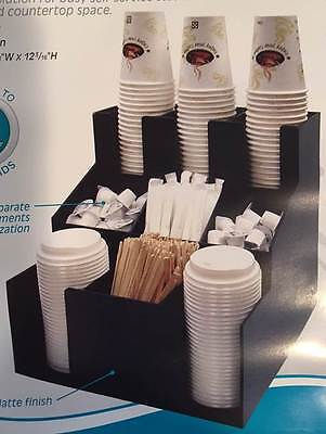 WINCO CLSO-3T Cup, Lid & Condiment Organizer  3 Tier/3 Stacks