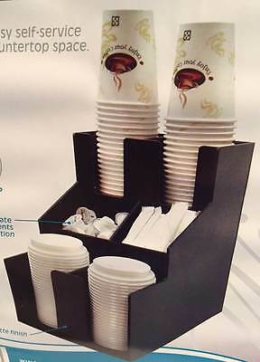 WINCO CLSO-2T Cup, Lid & Condiment Organizer  3 Tier/2 Stacks