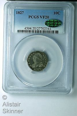1827 Capped Bust Dime PCGS VF20 CAC