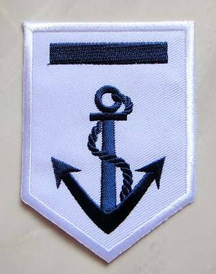 Beautiful Blue Anchor Navy Embroidered Iron on Patch Free Shipping