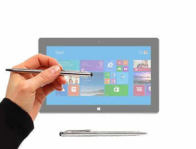 Silver Stylus & Pen for Microsoft Surface Pro, Surface Pro 2 / 3 / 4 w/ Soft Tip