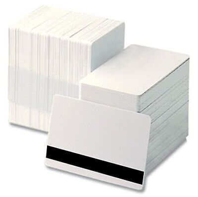 Blank White Hi-Co PVC Plastic ID Cards CR80 - 760 Micron Qty's 10-1000 Free P&P
