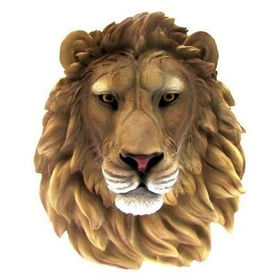 "Jungle King Simba Lion Head Bust Wall Hanging Figurine Home Decor Plaque 16""H"