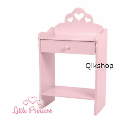 WOODEN SIDE TABLE Pink Small Hallway Bed Living Room Coffee End ...