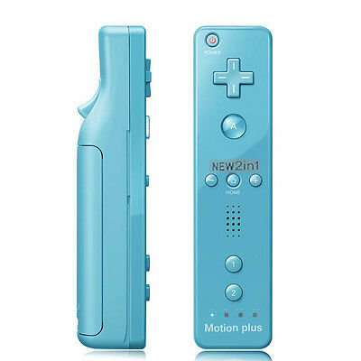Wiimote Built in Motion Plus Inside Remote Controller For Nintendo Wii Game Blue