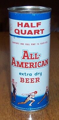 *Quality* 16 oz. All-American Flat Top Beer Can (Chicago)-USBC 224-06-Empty