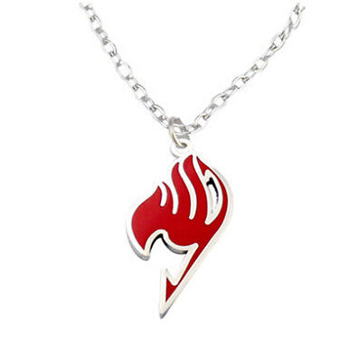 1X Fairy Tail Natsu Dragneel Guild Cosplay Red Pendant Necklace Anime Props