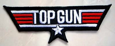1d14b954106 US Navy Air Force Top Gun Black Logo Embroidered Iron on Patch + Free  Shipping