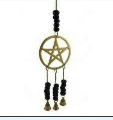 PENTAGRAM PENTACLE ALTAR BELL Silver Plated Witch Wicca DRIVE AWAY EVIL SPIRITS