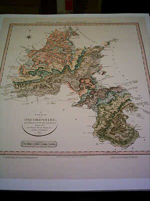 Geological Map of Oxfordshire By W.Smith 1820 - Print - 49 x 57.2cm