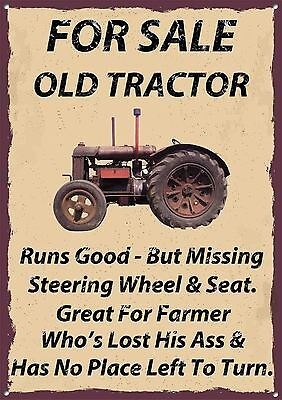 For Sale Old Tractor,farming,collectable,vintage Style,enamel Metal Sign,443