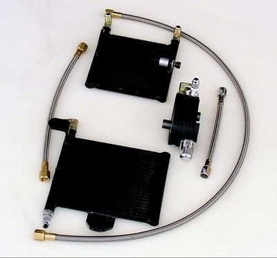 OilBud 06-12 Dyna Oil Cooler With Black Powder Coated Adaptor