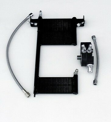OilBud 00-17 Softail Oil Cooler With Black Powder Coated Adaptor (Non ABS)