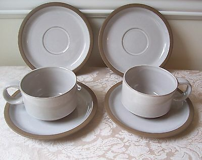 MIDWINTER NATURAL 2 CUPS & 4 SAUCERS (MORE AVAILABLE) STONEWARE JAPAN