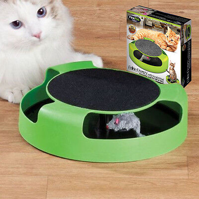Cat Kitten Catch The Mouse Interactive Scratching Claw Mat Moving Play Toy