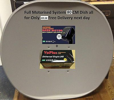 Full Motorized System 80 CM DISH Free UK