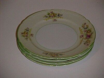 Coronation China of Japan CJA6 Pattern Floral Bouquet Bread & Butter Plate Set