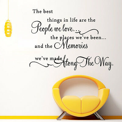 The Best Things In Life Removable Wall Quote Art Decal Vinyl Sticker Home Decor