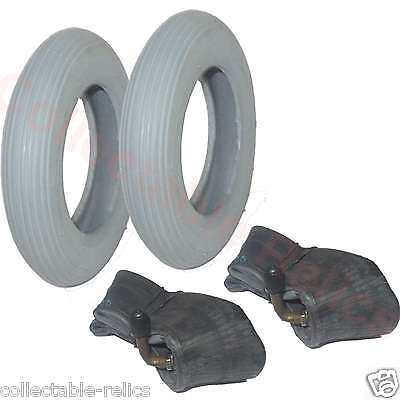 2 Tyre Tube 6x1 1/4 Grey Wheelchair Trolley Electric Scooter Mobility 32-86 4916
