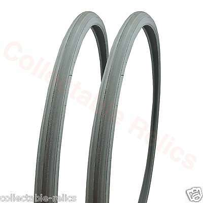 2X Wheelchair Tyre Grey 24 X 1 25-540 Non Marking Wheel Chair Bike Bicycle 4926