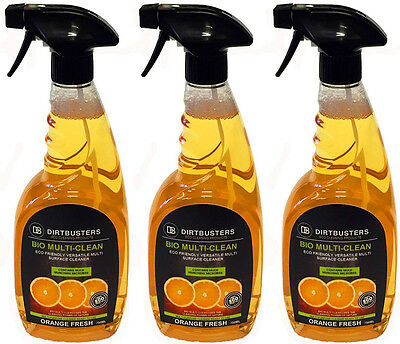 General purpose cleaner multi surface cleaning floor kitchen bathroom 3 x 750ml