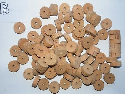 "100 Cork Rings 1 1/4""x1/2""  Bore 1/4"" Grade B - Free Ship For Worldwide"