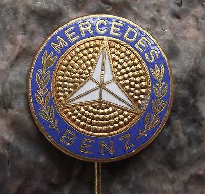 Antique Mercedes Benz Cars German Automobiles Three Pointed Star Logo Pin Badge