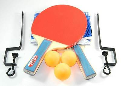 New Set of Two Table Tennis Ping Pong Bats, Net & 3 Balls MY-1624