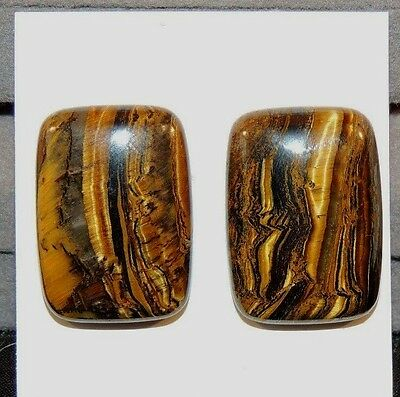 Tiger Iron 25x18mm Free Form pair of Cabochons  (8473)