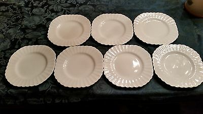 "Lot of 7 Vintage J & G Meakin Classic White 7"" SandwichLunch Plates from England"
