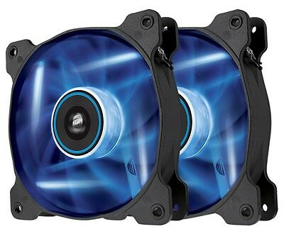 Corsair SP120 Blue LED 12CM 120mm PC Case Fan Twin Pack - CO-9050031-WW