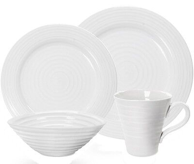 Portmeirion Sophie Conran White 16 Piece Dinner Set - New/Unused