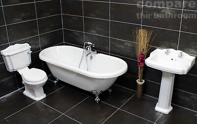 Traditional Classic Victorian Roll Top Freestanding Bathroom Suite Ball & Claw