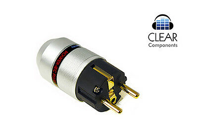 Alu Schukostecker - Vergoldet - Power Plug Gold Plated - Audio-Hifi-Highend-Top