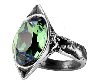 Genuine Alchemy Gothic Ring - Absinthe Fairy Spirit Crystal | Ladies Ring